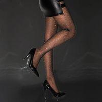 Designer Designer Sexy Crystals Calzata da donna Mesh Net Fishnet Body Diamante Calze Pattern Pantyhose Collant Calze di Natale Calze di Natale Rhinestone