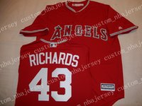 Cheap Custom Anaheim GARRETT RICHARDS Baseball jerseys Stitc...