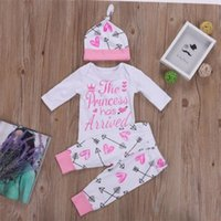 Recém-nascido Bebé Romper Bodysuit + Flecha Calças Compridas + Chapéu Roupa Roupas 0-2 Anos