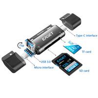 모든 카드 리더기 USB 3.0 유형 C ~ SD 마이크로 SD TF 카드 어댑터 OTG 메모리 카드 판독기 4-in-1 EZ08