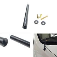 4.7inch Black Carbon Fiber TRD автомобилей Антенна Радио Антенна ж / Винты Универсальные