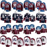 Colorado Avalanche Hóquei Jerseys 8 Cale Makar Jersey 29 Nathan Mackinnon 92 Gabriel Landeskog 96 Mikko Rantanen Nikita Zadorov Costurado