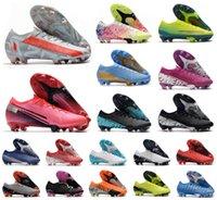 2021 Горячие мужчины VA POR 13 XIII ELITE FG Pink CR7 Roaldo Neymar NJR 13 360 Low Lainkle Футбол Футбольные Ботинки Обувь Размер 6.5-11
