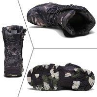 Caminhadas Sapatos Homens Bota Militar Tactical Combate Armário Do Ankle Army Outono Mountain Shoes Sapatos Masculinos Caça Ao Ar Livre Botas Camuflagem