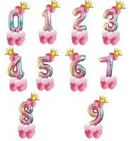 32 인치 생일 번호 풍선 키즈 장난감 공기 풍선 패션 키즈 선물 용품 최고 품질 풍선 공기 공 뜨거운 판매