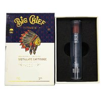 Big Chief Carts With Packaging Ceramic Coil Wood Tips Glass Tube Atomizers 510 Thread Empty Vape Cartridges Kits
