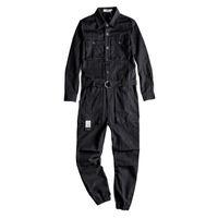 Yeni erkek Jean Bib Tulum Hip Hop Tulumlar Ile Çok Cepler İş Giyim Yüksek Moda Erkek Takımları