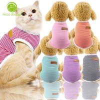 XS- XXL Pet Dog Vest Stripe Sweater Shirt Spring and Summer D...