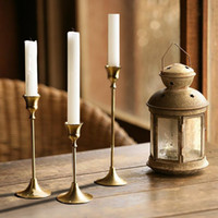 1 Piece Retro Brass Table Decoration Gold Candlestick Mariag...
