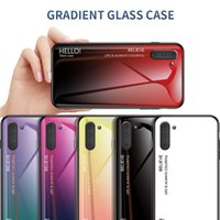 Gradient Tempered Glass Phone Case For Samsung Galaxy Note 10 Plus S10 Plus S10E S20 A70 A60 A50 A40 A30 A20 S9