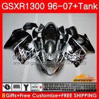 Kit per Suzuki Hayabusa Black Silvery GSX-R1300 1996 1997 1998 2007 24HC.2 GSXR 1300 GSXR1300 96 97 98 99 00 01 02 03 04 05 06 07 Fieristiche