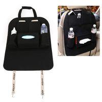 Сиденье Multi-карманный черный автомобиль Назад Tidy Войлок сиденья Организатор Pock сумка для хранения автомобилей Назад Scuff Dirt Protect Cover Для Ребенка Детские Kid кик Мат Pad