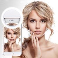 iphone Smartphone LED Cep Telefonu Selfie'nin Işık Klip-Lamba Portatif LED Selfie'nin Halka Işık Flaş Işığı Fotoğraf Kamera