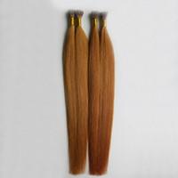 Kératine Fusion Bâton I CONSEIL Extensions de cheveux humains raides cheveux raides Kératine Fusion pré-collé Nail Tip Extensions de cheveux 30 Auburn Brown