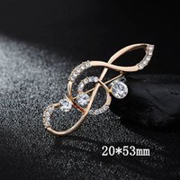 Wholesale Fashion Crystal Rhinestone Musical Note Pin Brooch...