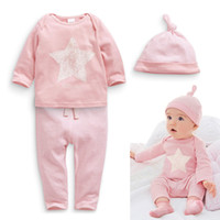 Newborn Baby Girls Pink Little Star Outfits Stripes Clothing...