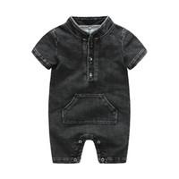 Enfants Designer Vêtements Girls Garçon Garbeur Inston Enfant Toddler Denim Jumpsuits 2019 Boutique Été Baby Escalade Vêtements