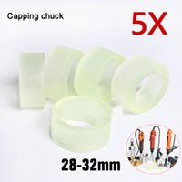 Tampando Chuck tapete de borracha para Capper 28-32mm 38 milímetros garrafa de plástico redondo com Segurança anel de silicone nivelamento Chuck 5pcs pedaço 28-32mm