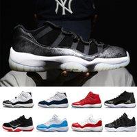 11s Platinum Tint Concord 45 Mens tênis de basquete 11 boné e um vestido Blackout Stingray Gym Marinha Red meia-Bred espaço Jams Sports Sneakers