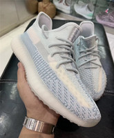 2019 Release Kanye West Cloud White Citrin Reflective Moonlight Ice Blue Yellow Running Zapatillas deportivas 3M Black Hombres Mujeres Zapatillas con caja