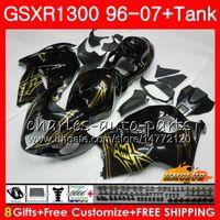 키트 스즈키 GSXR 1300 용 1996 2002 블랙 골든 2003 2004 2005 2005 2007 2007 24HC.175 GSXR-1300 하야부사 GSXR1300 96 02 03 04 05 06 07 페어링