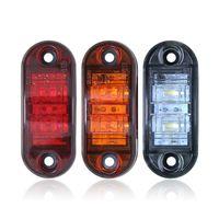 Indicatore LED indicatore laterale del camion della lampada impermeabile per 12-24 camion rimorchio del camion freno Attenzione ambra-chiaro Rosso Bianco