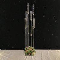 Акриловые канделябры 8 Heads / Оружие Подсвечники Именной Centerpiece цветок стенд держатель Candelabrum Party Home Decor