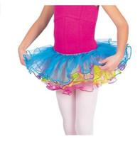 Paillettes Girls bébé Tutu JUPE enfants filles Ballet arc-en-Dancewear Tutu Pettiskirt Organza Tutus pour les filles