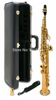Hot Selling MARGEWATE Brand S-901 b flat Soprano Saxophone Prass Music Instruments Sax With Case Mouthpecess Free Shipping