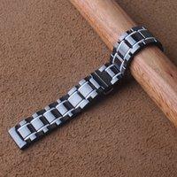 20 mm 21 mm 22 mm 23 mm 24 mm en céramique noire watchbands mix couleur blanc Accessoires de mode Nouvelle montre Montre bracelet poli boucle en acier inoxydable