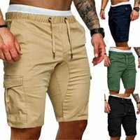 Moda elegante hombres pantalones cortos de verano trabajo deportivo casual ejército combate carga pantalones cortos size masculino M-2XL