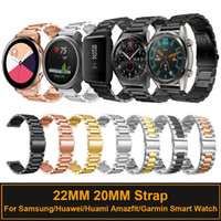 22mm 20mm Metal Band for Samsung Galaxy Watch Active 42mm 46mm Gear S3 S2 Bracelet Strap for Huami Amazfit GTR Huawei watch GT