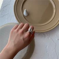 INS Moda Donna Anelli creativi Simplet design di stile Hip Hop degli anelli di personalità anello esagerato del metallo della fascia