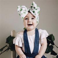 Infantil de los bebés pelo de la venda de las vendas DIY de los niños del arco princesa Turbante Estampado de flores del Bowknot Toca accesorios elásticos del pelo D22604
