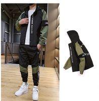 Hommes Survêtements avec la mode Lettre de broderie Street Sports Sets de Styles Printemps Automne Vêtements de loisirs