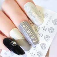 24pcs Laser Holographic Nail Art Sticker dégradé arc-en-Decal Caméléon 3D vague Stripe Lignes Curseur Nail Art Décoration SA208