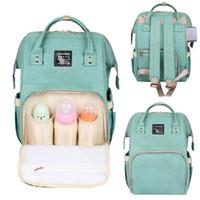 패션 여성 여행 솔리드 만화에 대한 엄마 가방 출산 배낭을위한 대용량 기저귀 가방 배낭 아기 기저귀 가방