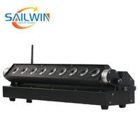 GB-Lager China Stadiums-Licht 9 * 18W 6in1 RGBAW + UV Batteriebetriebene drahtlose LED Wall Washer Licht für DJ Hochzeit