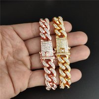 Personality Hip Hop Punk Men' s Bracelets Iced Out Cubic...