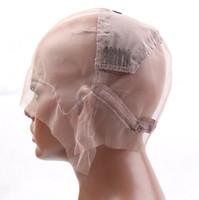 Ayarlanabilir askıları ve Taraklar S M L ile Peruk Yapımı için Bella Saç Tutkalsız Tam Dantel Peruk Cap