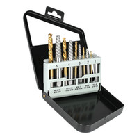 10pcs métal acier gaucher bits foret outil d'extracteur de vis avec le cas
