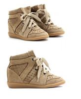 her türlü Marka Kadın Isabel Süet Bekett Kama Sneakers Marant Yüksek Üst Gerçek Deri Günlük Spor Ayakkabı Bilek Boots özelleştirmek edilebilir