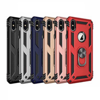 Voiture en métal Annulaire Support pour iPhone 12 11 XR XS MAX X 8 7 6 SE 2020 Galaxy Note 20 10 S20 S10 Defender Armure Holder Hybrid Cover