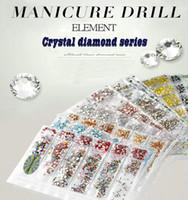 decoración del arte del clavo de elemento swarovski serie cristal de diamante de perforación SS4-SS16 Unique 14 Crystal taladro cara manicura