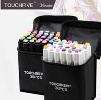 2018 TouchFIVE 36 Couleur Double Tête Art Marqueurs Ensemble Artiste Sketch Marqueurs à base d'alcool huileux Pour Animation Manga De Luxe Stylo fournitures scolaires