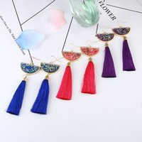 Popular C2019 hinese Style Tassel Earrings Multicolored Shel...
