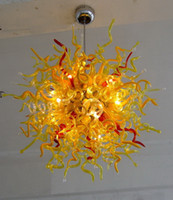 Modern Crystal Art Decor Blown Flower Glass Chandelier CE UL...