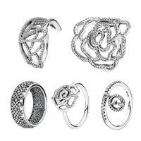 Fahmi 100% 925 sterling zilver ingewikkeld rooster vlinder glinsterende delicate bungelende duidelijke ronde sparkle ring diy sieraden fabriek direct