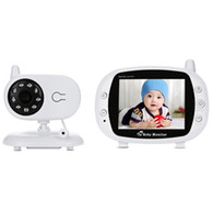 Bebek Monitör 3.5 inç Kablosuz TFT LCD Video Gece Görüş 2-Way Ses Bebek Bebek Kamera Dijital Video Monitör