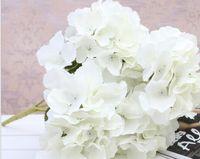 造花安いシルクアジサイ花嫁の花束の結婚式の家新年のデコレーションアクセサリー花瓶の花の配置10pcs GB508